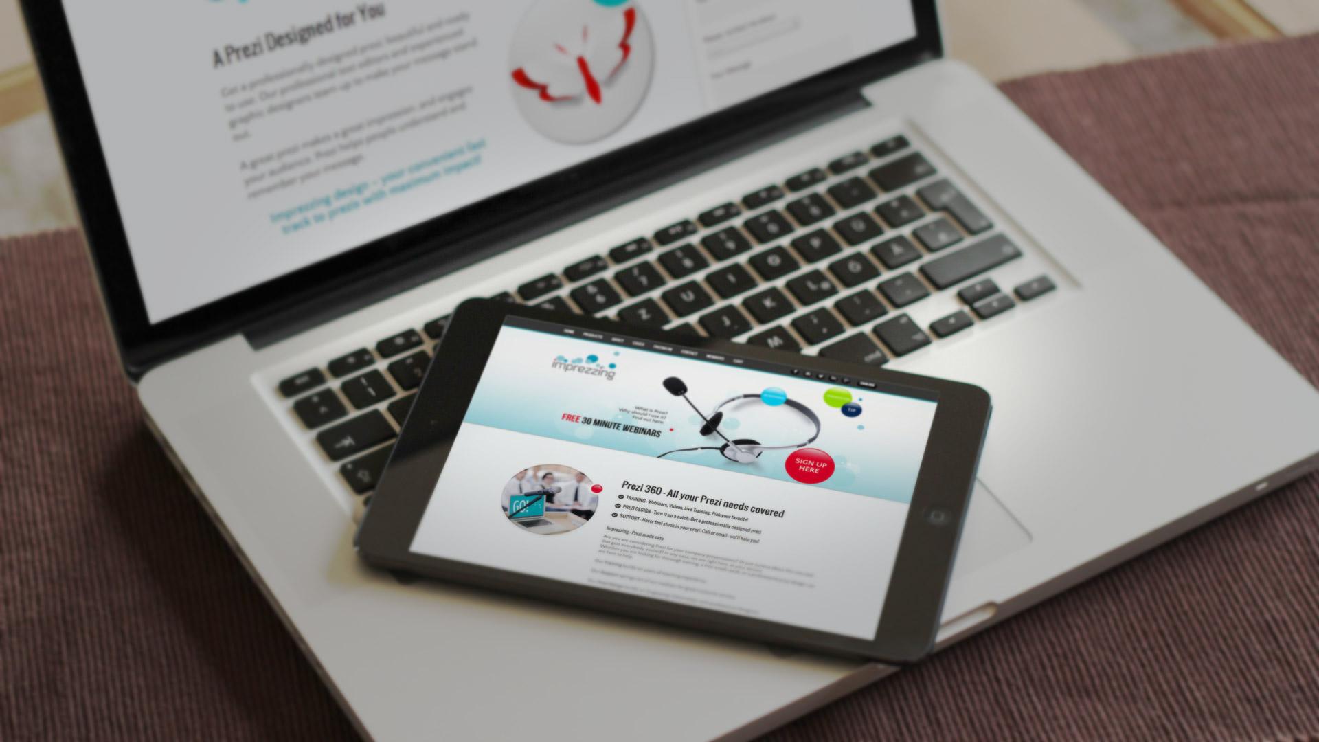imprezzing wordpress webdesign og webshop